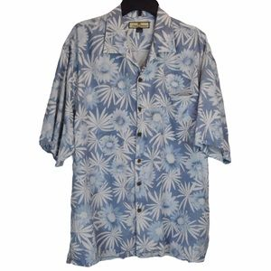 Tommy Bahama Silk Floral Print Button Down, Large